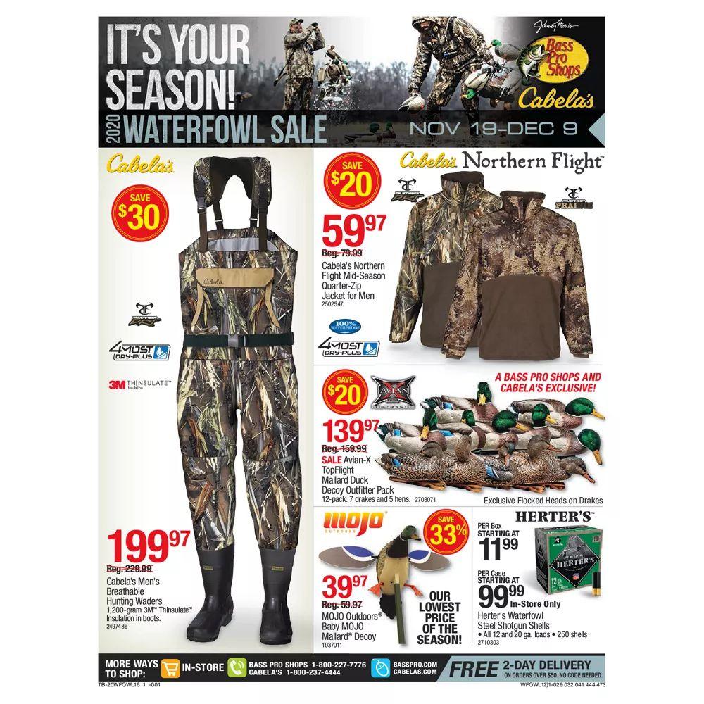 Bass Pro Shops Weekly Ad November 19 - December 9, 2020