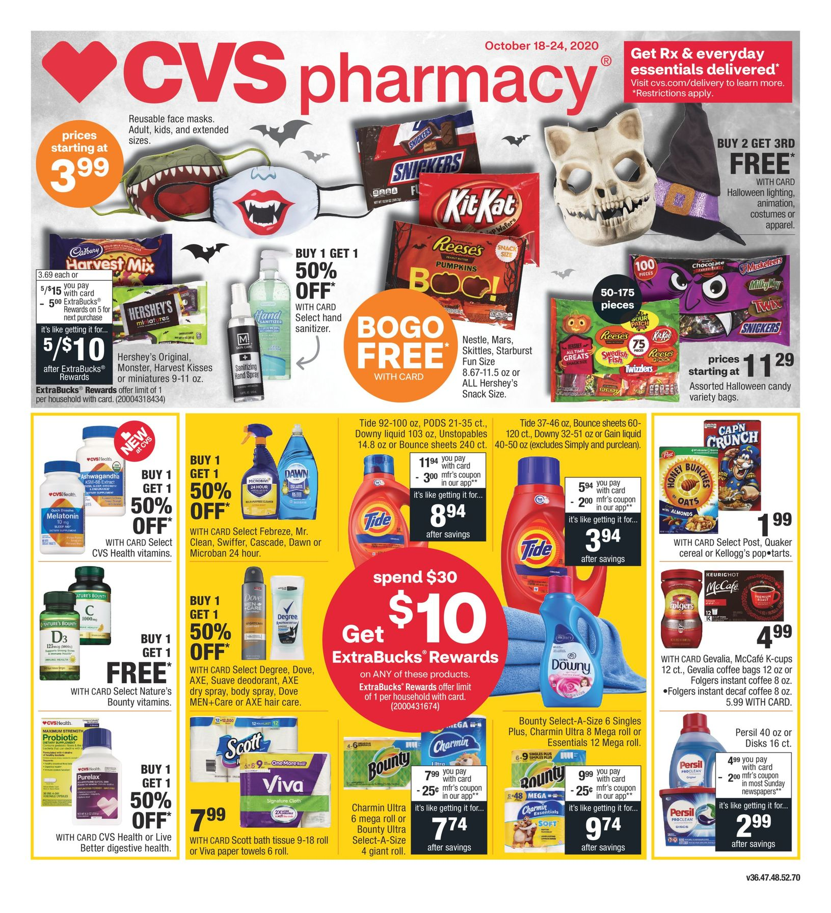 CVS Ad Circular October 18 - October 24, 2020. Get Ready For Halloween!