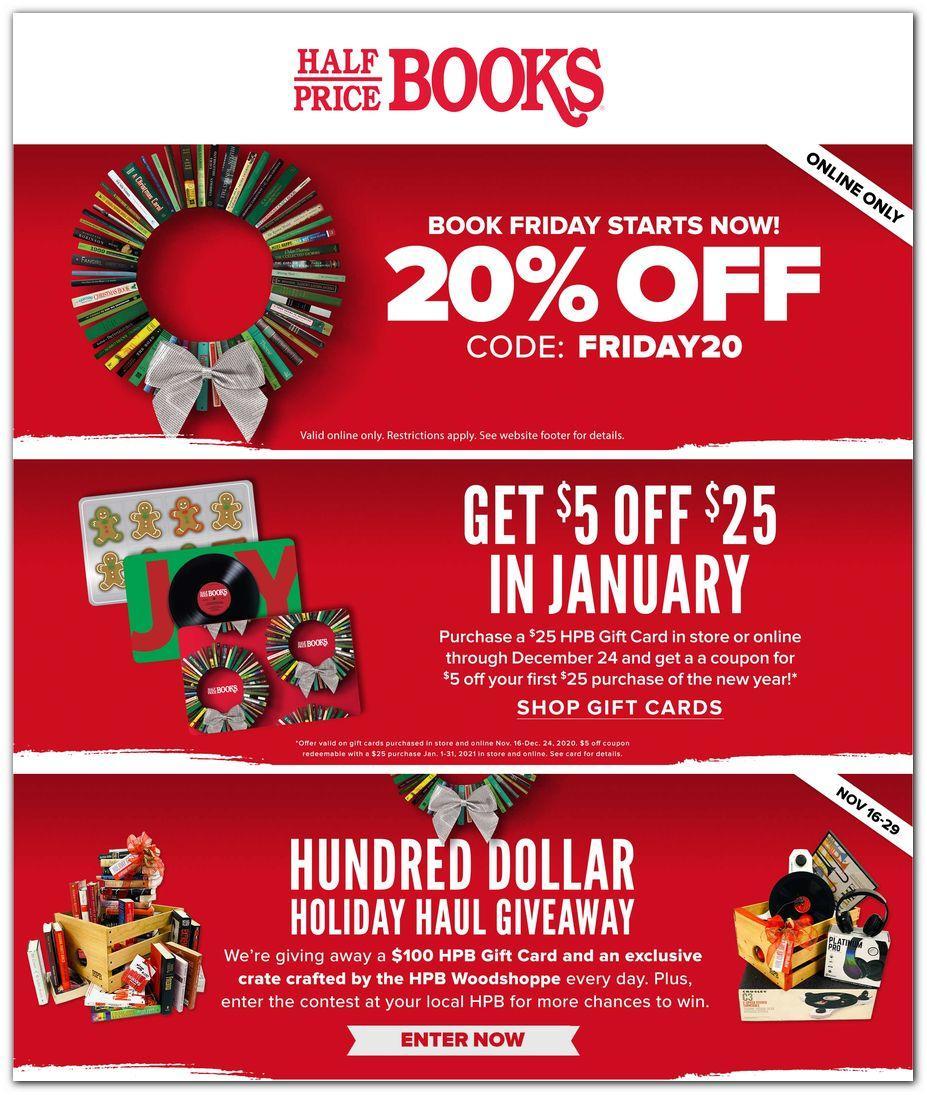 Half Price Books Black Friday Deals 2020