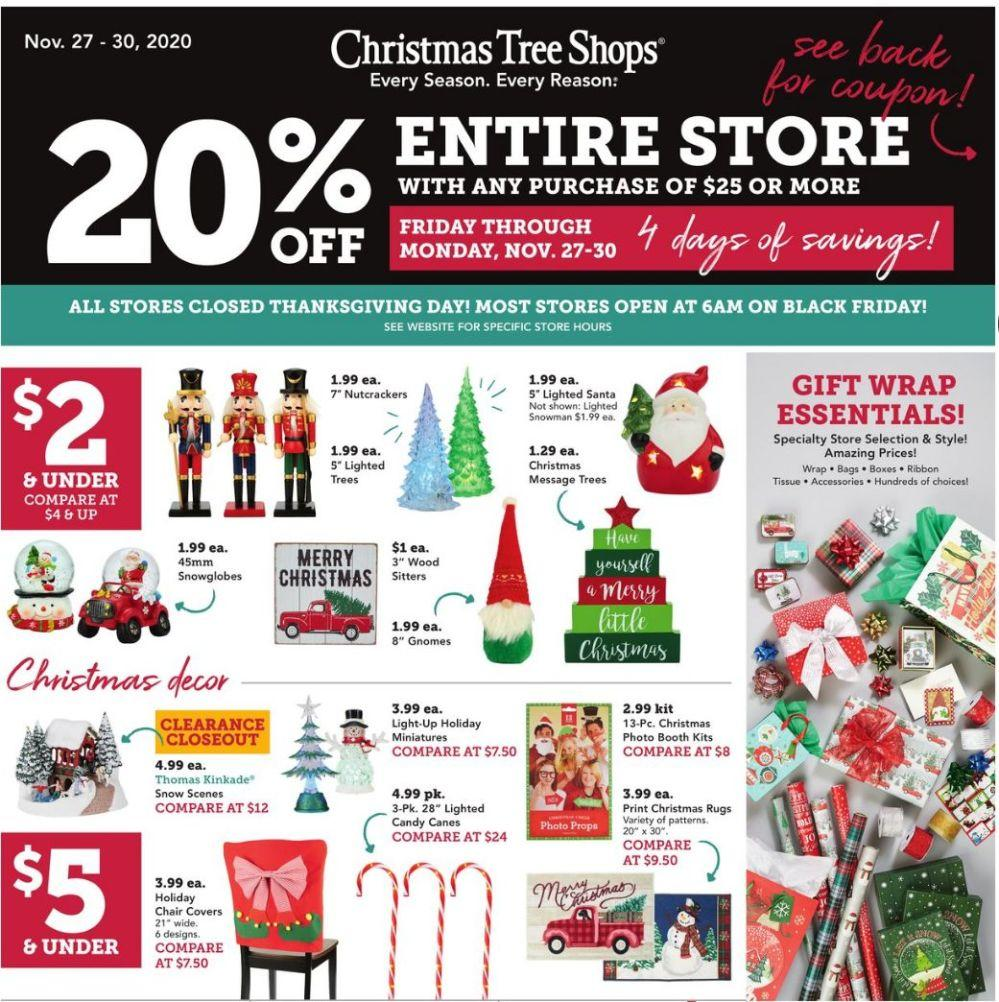 Christmas Tree Shops Black Friday Ad 2020