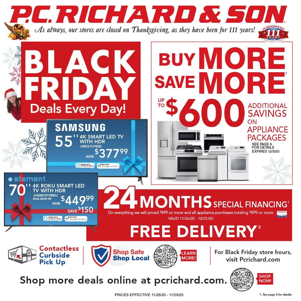 PC Richard & Son Black Friday Ad 2020