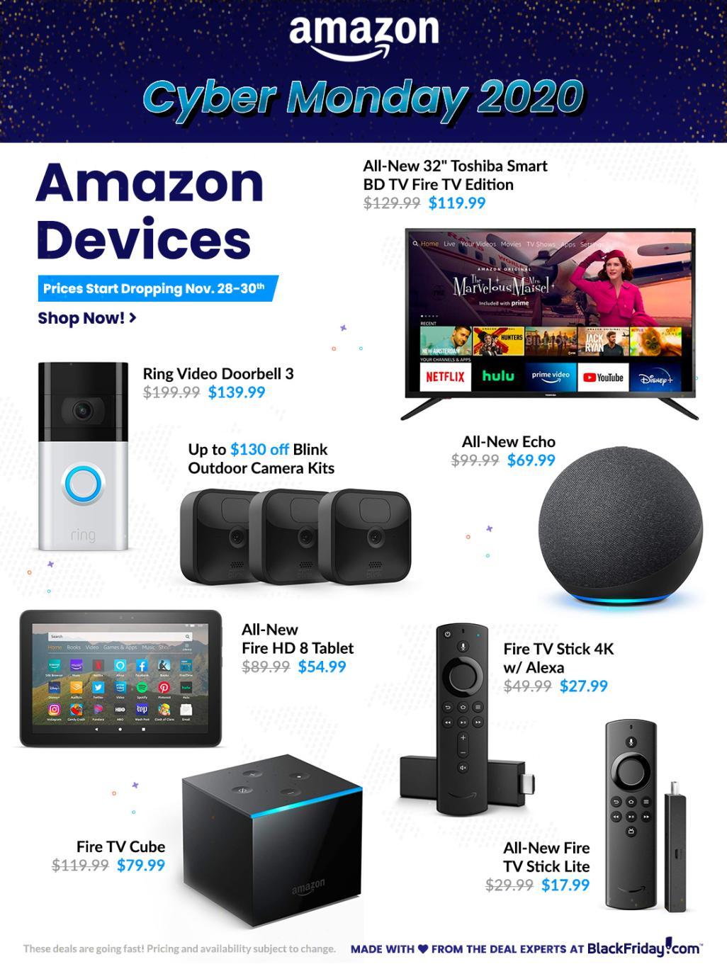 Amazon Cyber Monday Sales Ad 2020