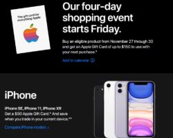 Apple Store Black Friday Sales Ad 2020