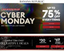 Banana Republic Cyber Monday Sale 2020