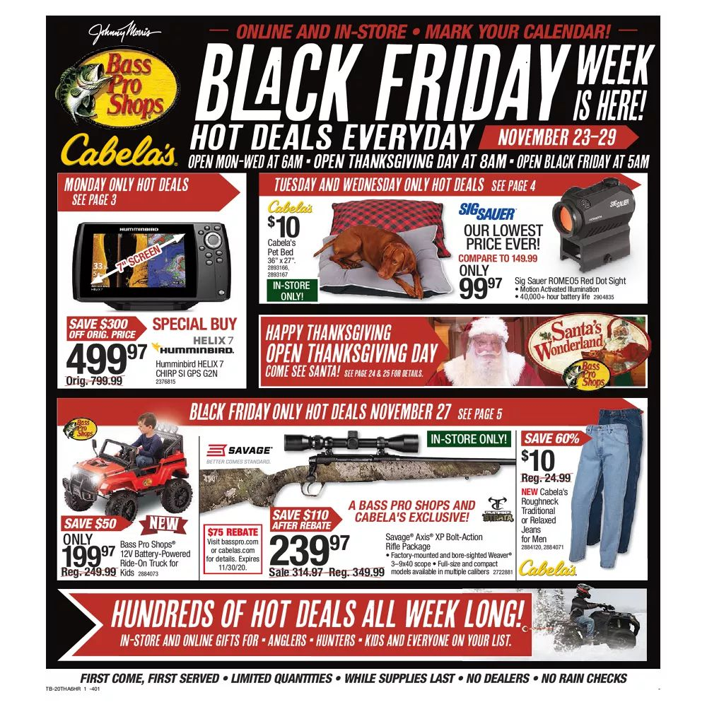 Bass Pro Shops Black Friday Ad Sale 2020