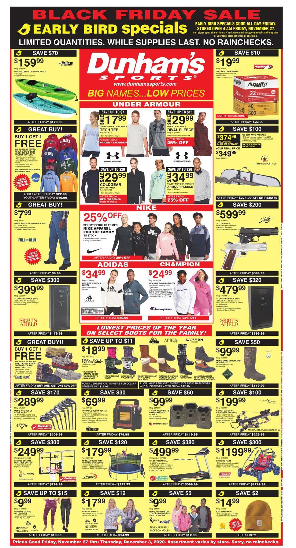 Dunham's Black Friday Sales Ad 2020