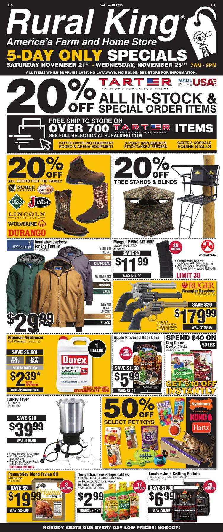 Rural King Early Black Friday Ad 2020