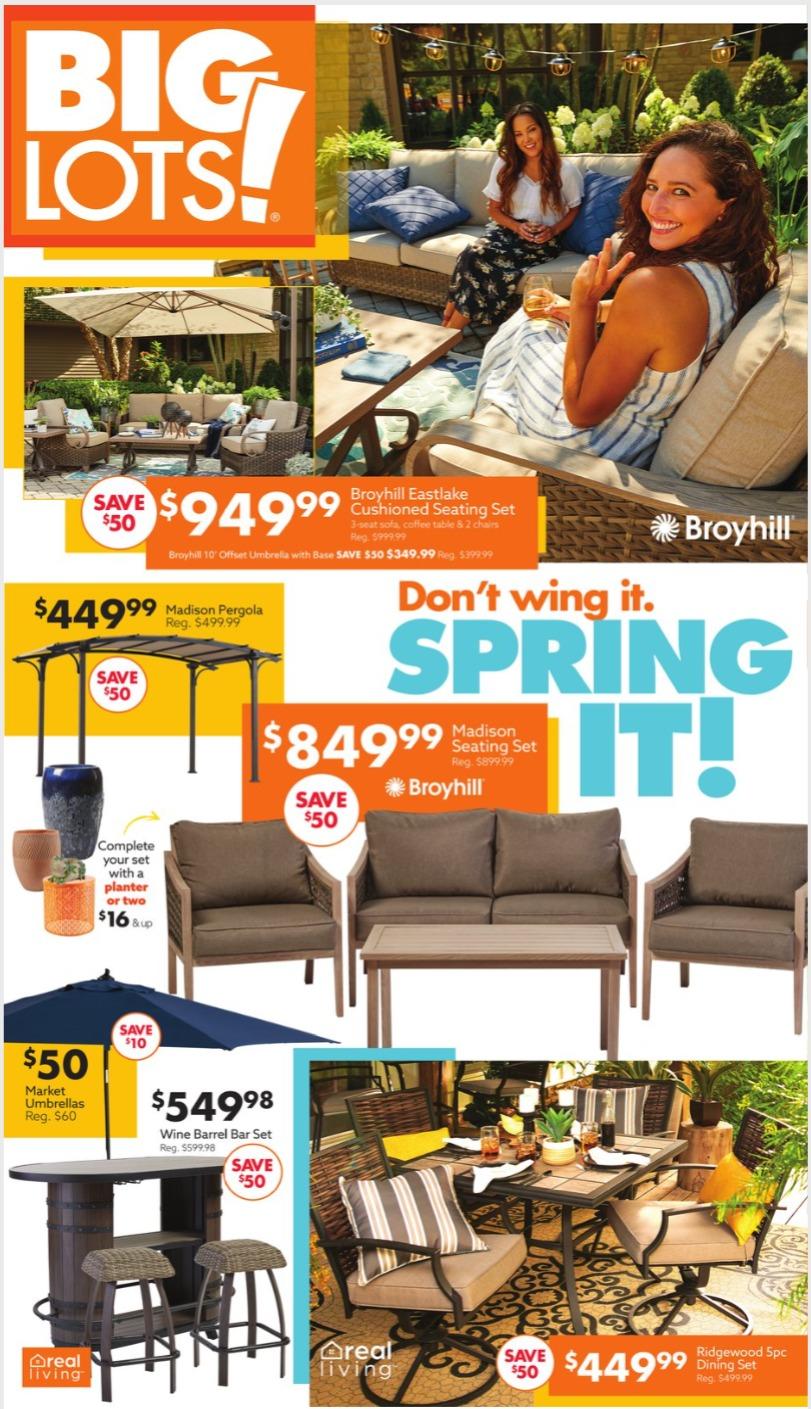 Big Lots Weekly Ad April 10 - April 18, 2021.
