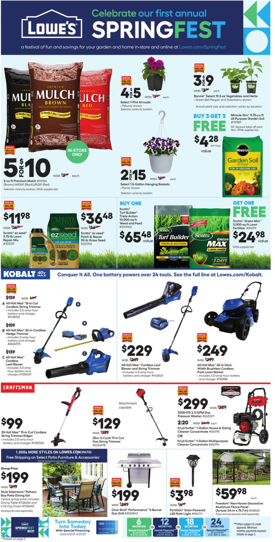 Lowe's Weekly Ad April 8 - April 21, 2021