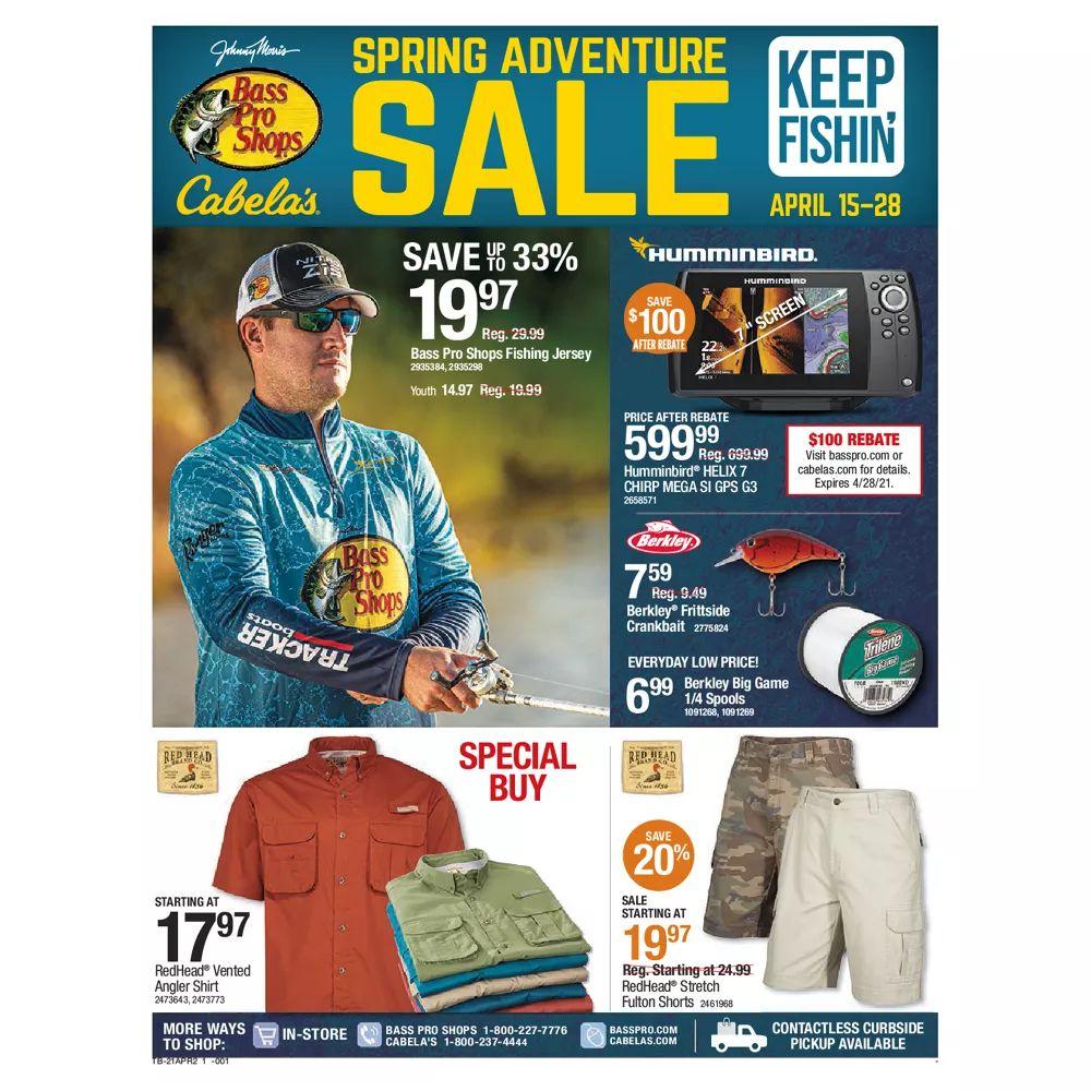 Bass Pro Shops Weekly Ad April 15 - April 28, 2021. Spring Deals!