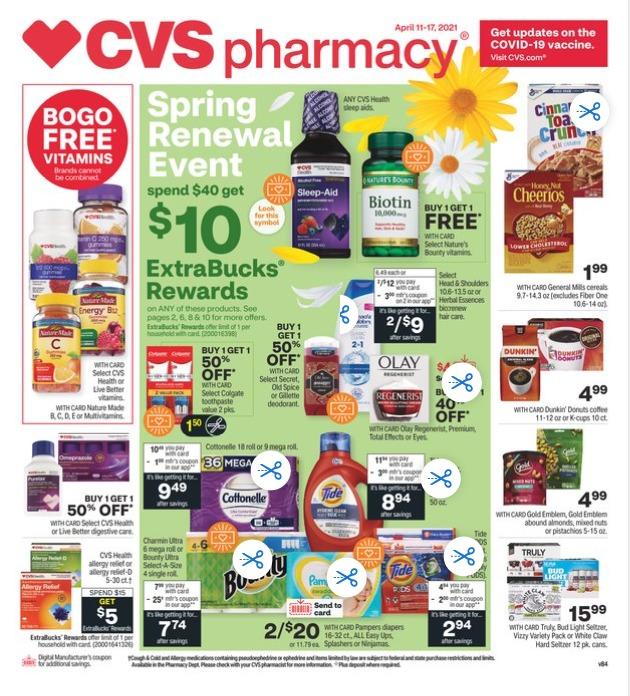 CVS Weekly Ad Sale April 11 - April 17, 2021