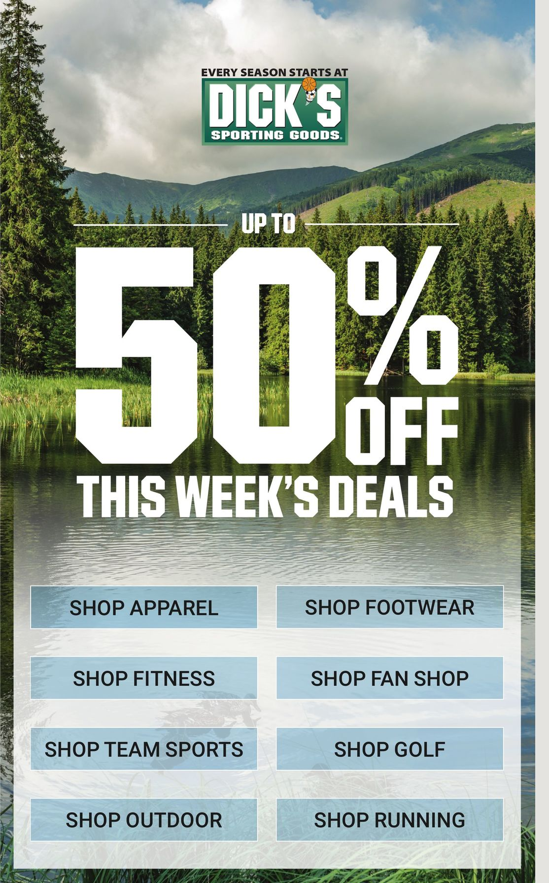 Dick's Weekly Ad April 11 - April 17, 2021. Up To 50% OFF Deals!