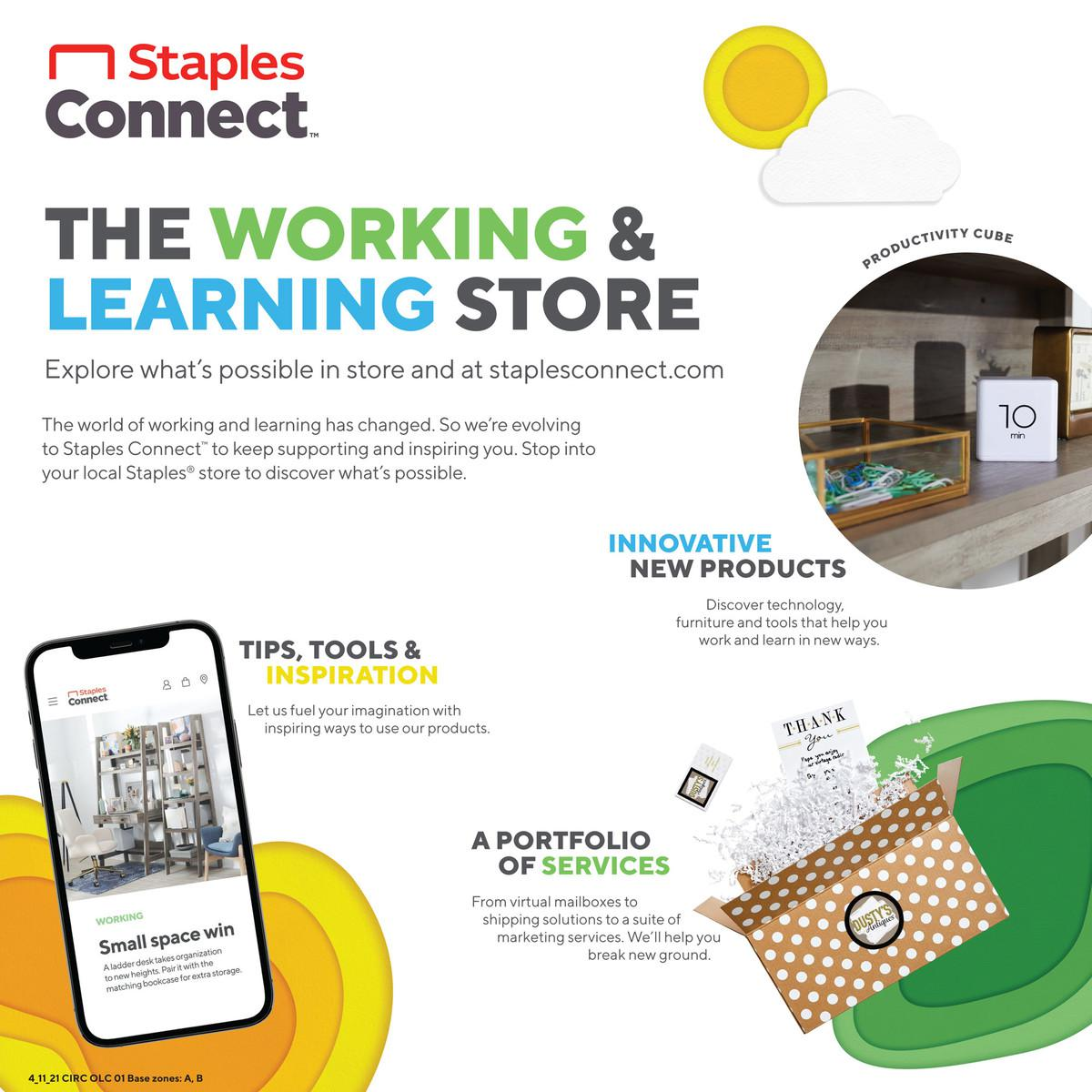 Staples Weekly Ad April 11 - April 17, 2021. Gear Up For Class!