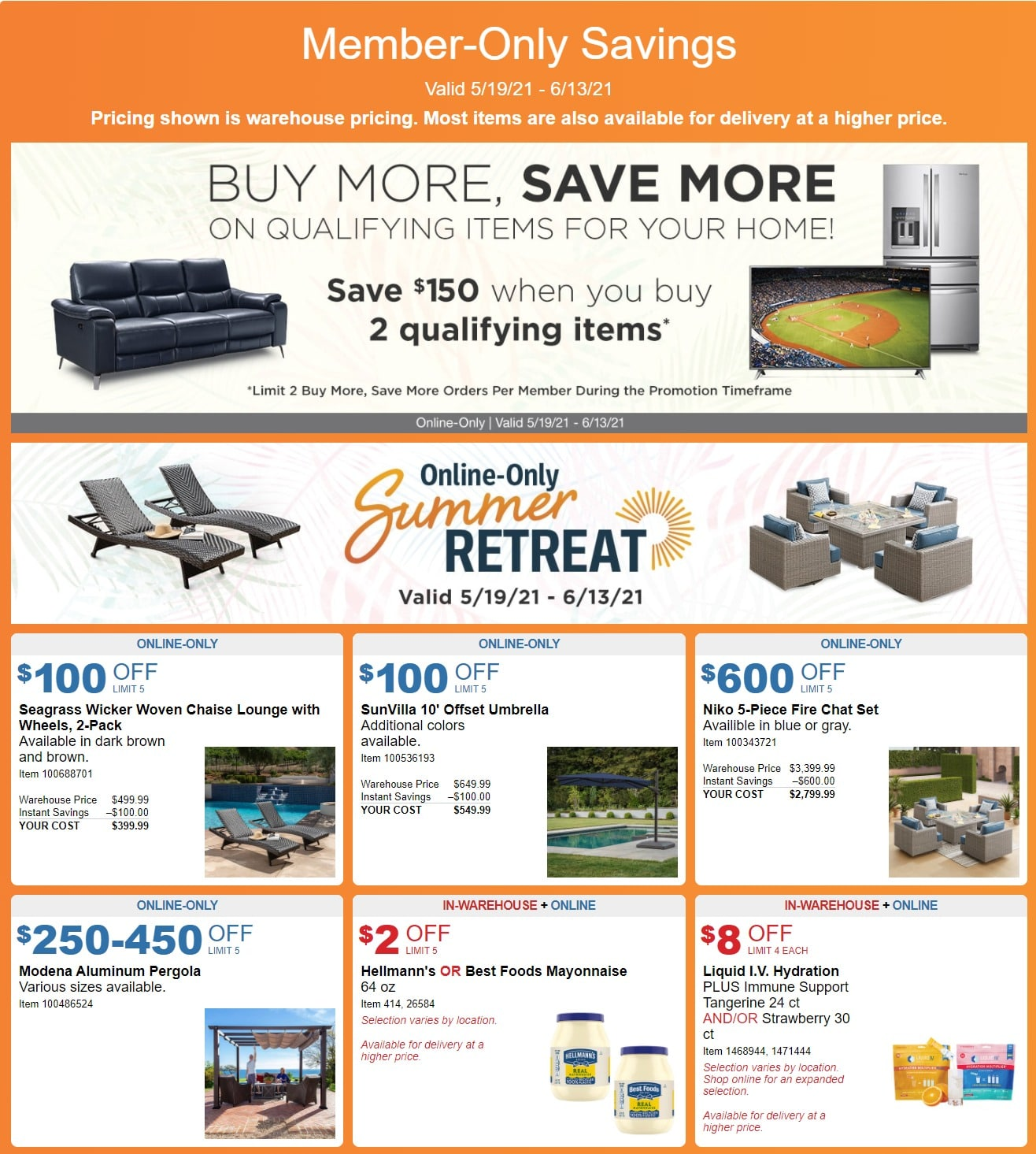 Costco Members-Only Ad May 19 - June 13, 2021