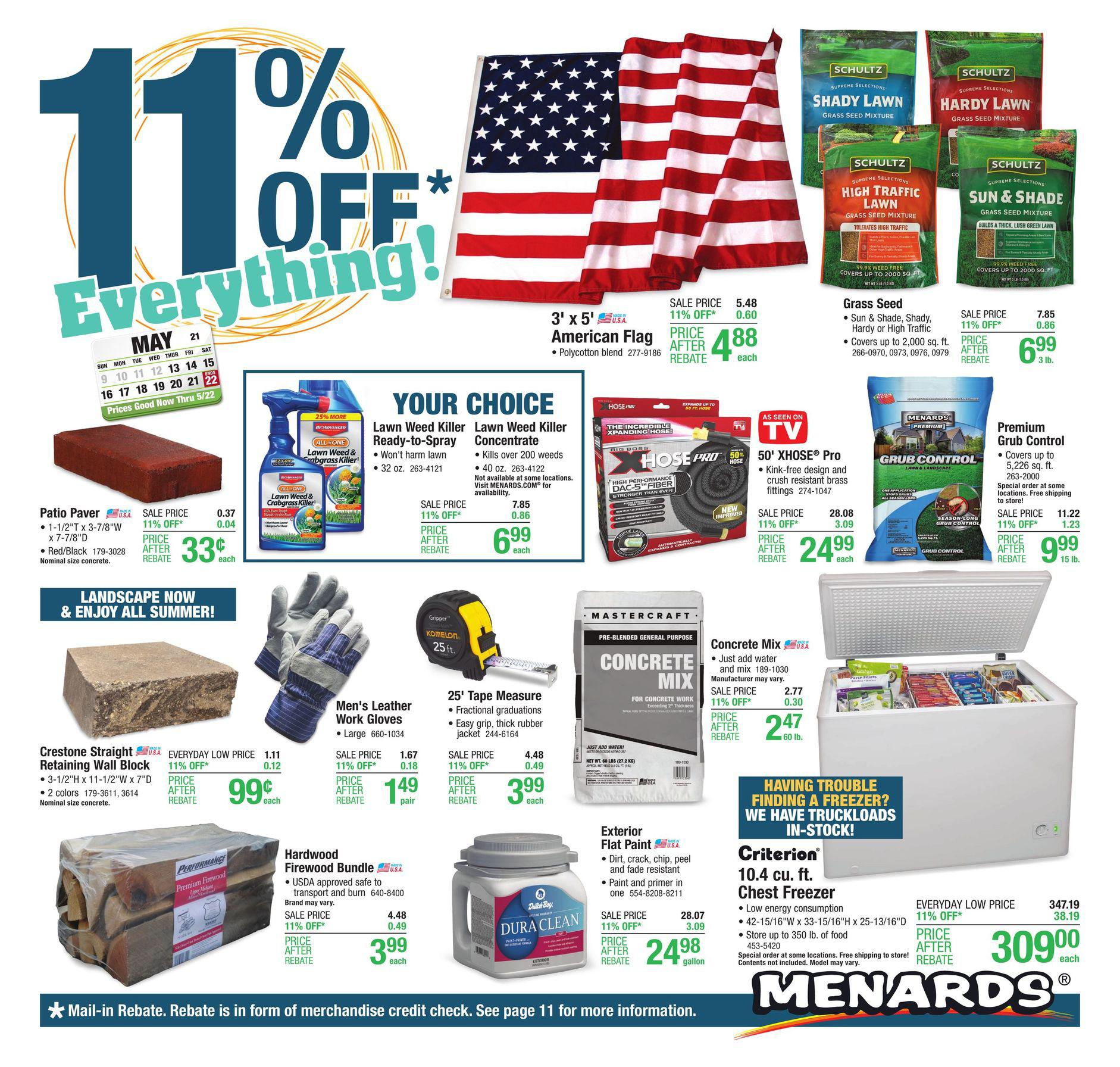 Menards Ad Deals May 13 - May 22, 2021