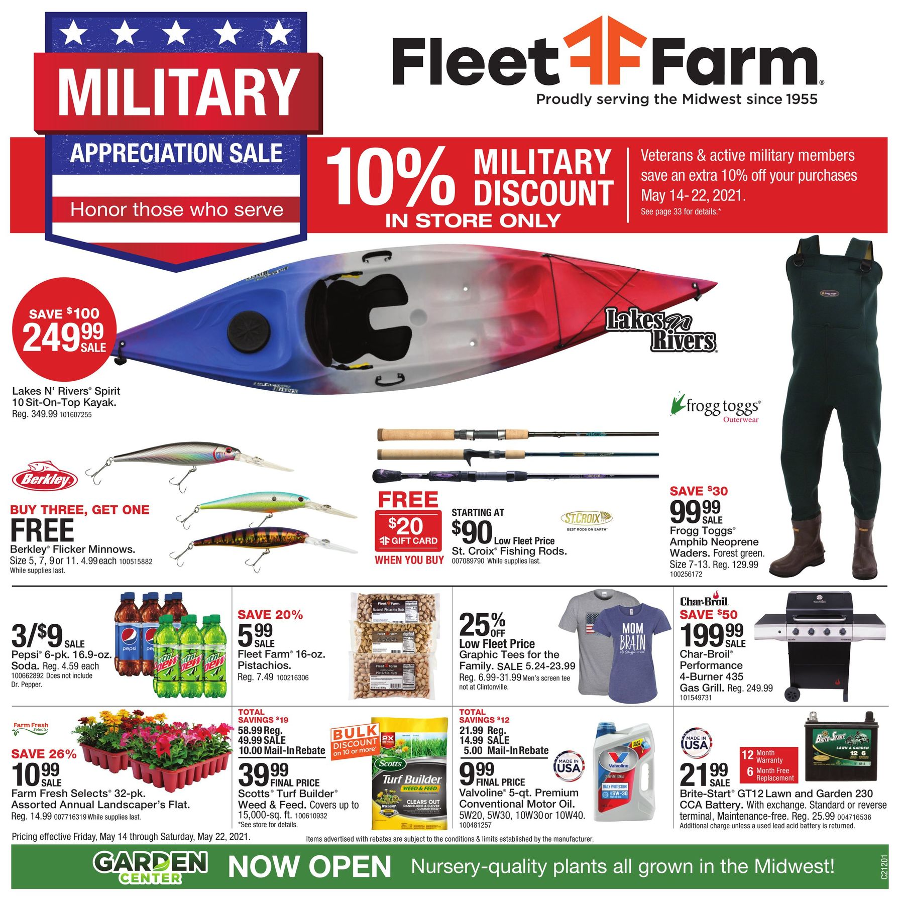 Fleet Farm Weekly Ad May 14 - May 22, 2021.