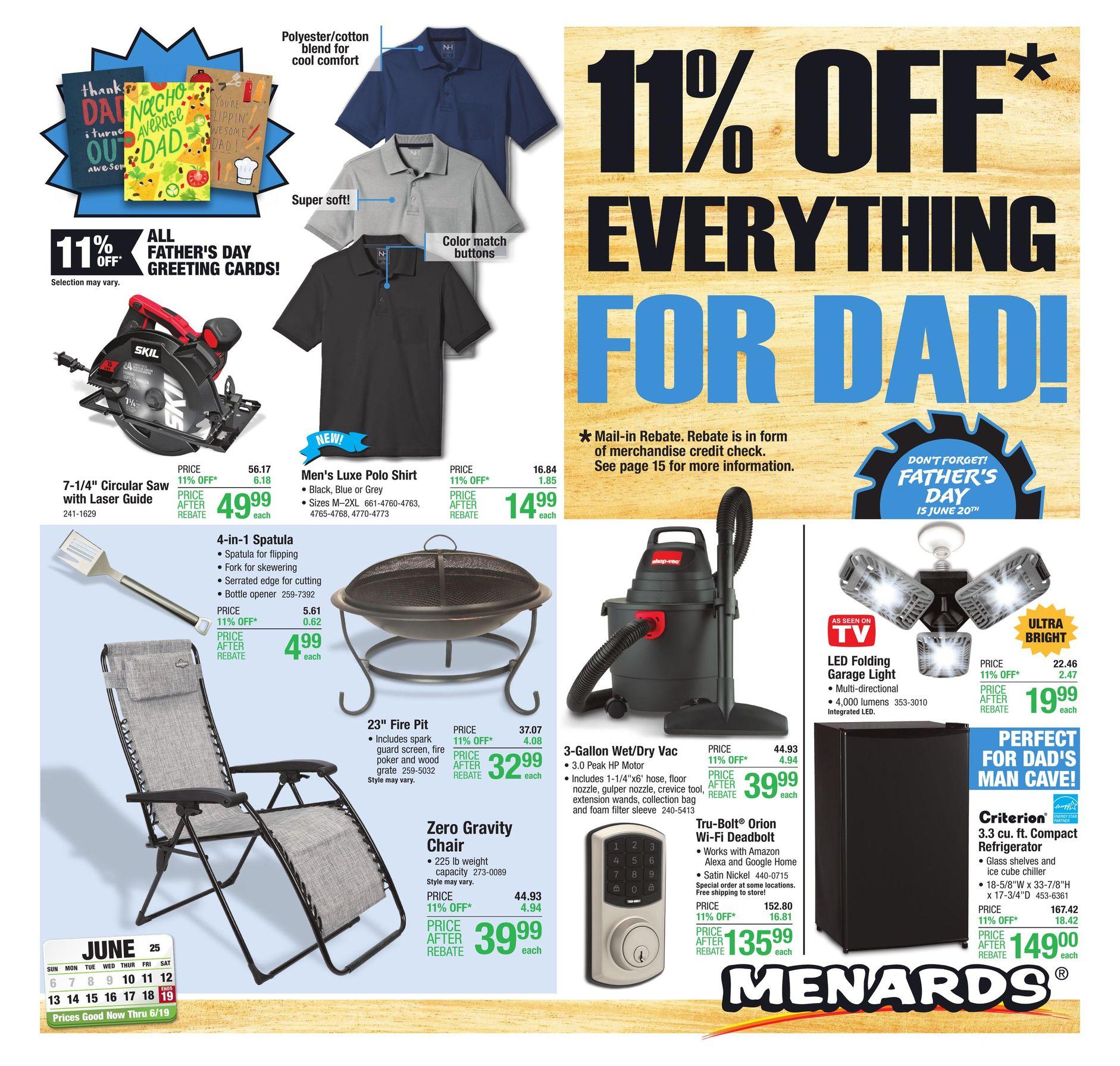 Menards Weekly Ad June 10 - June 19, 2021